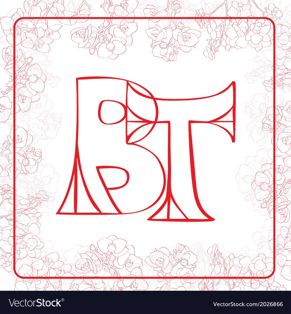 Bt monogram vector | Price: 1 Credit (USD $1)