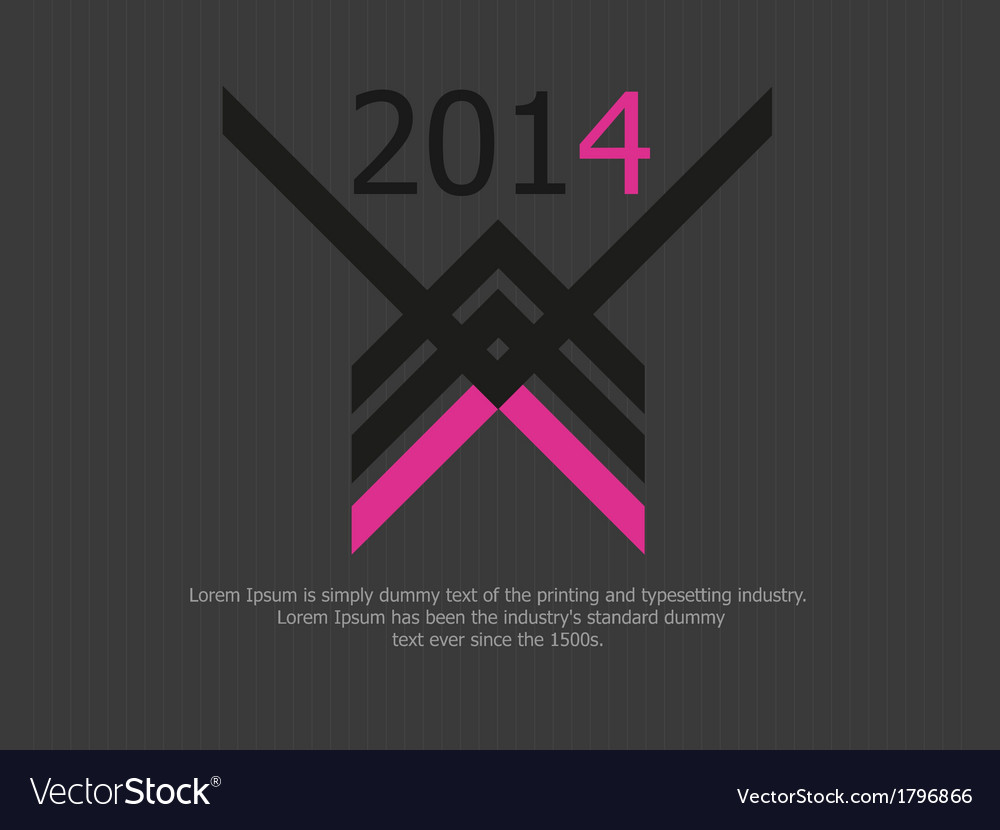 Clean dark 2014 background vector | Price: 1 Credit (USD $1)