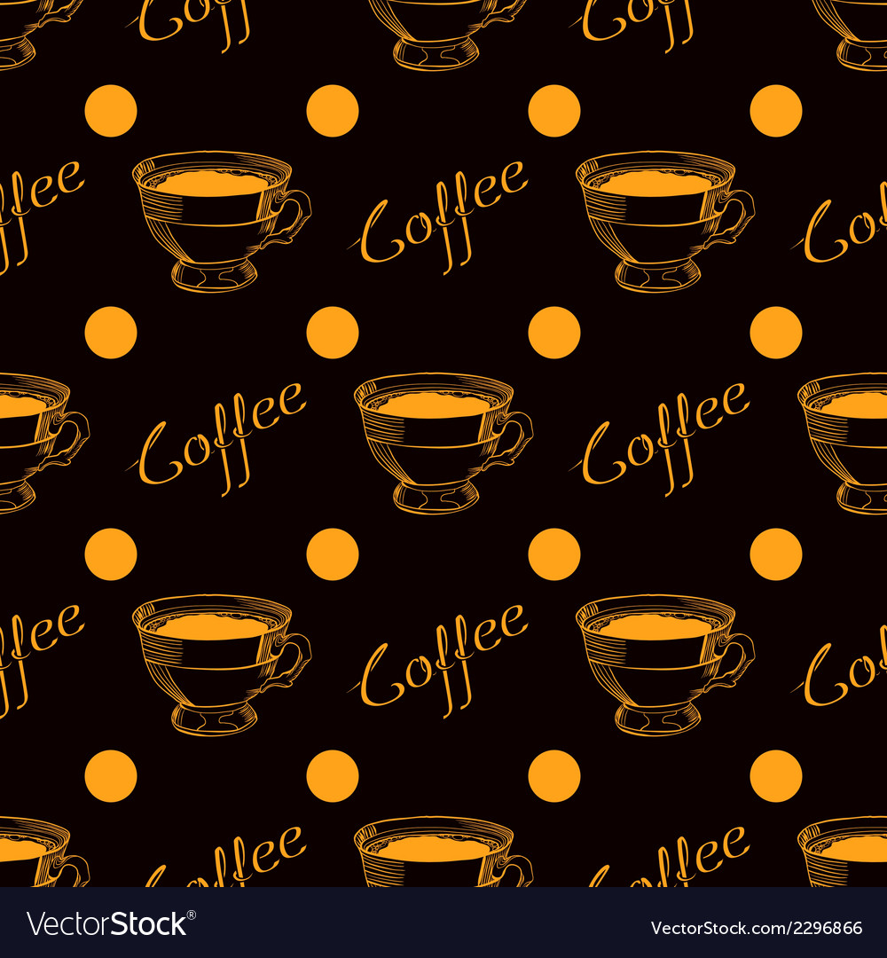 Coffee cup seamless background vector | Price: 1 Credit (USD $1)