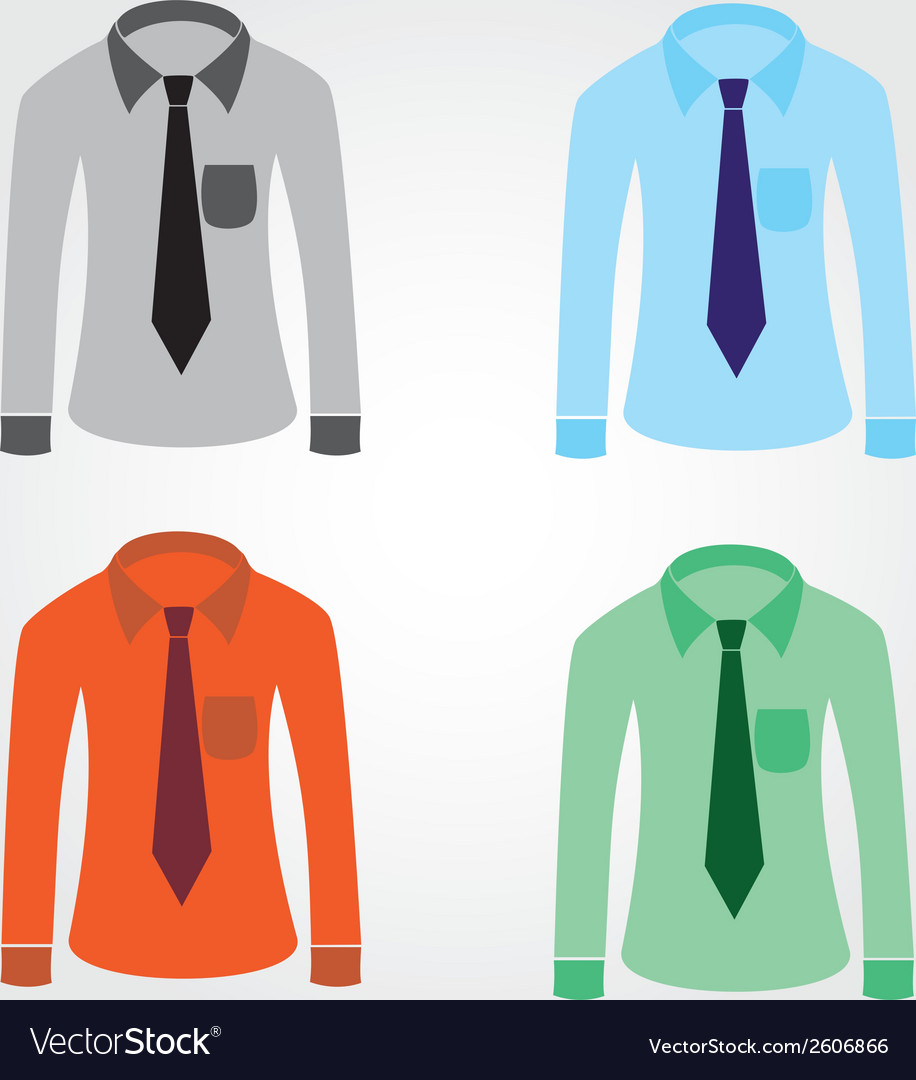 Color shirts with tie eps10 vector | Price: 1 Credit (USD $1)