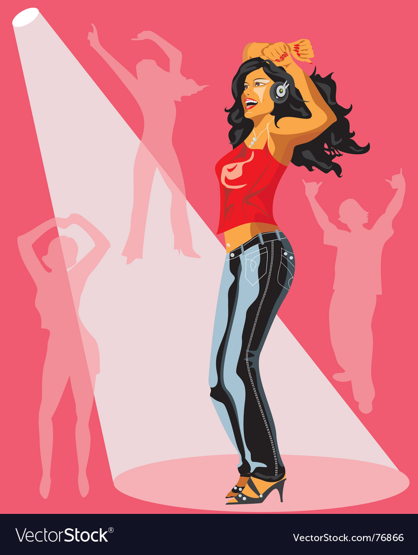 Illustration of dancing girl vector | Price: 5 Credit (USD $5)