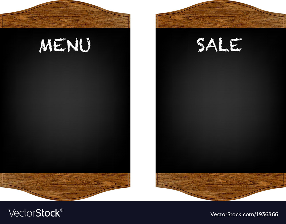Restaurant menu board set vector | Price: 1 Credit (USD $1)