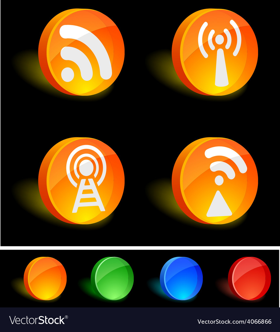 Rss icons vector   Price: 1 Credit (USD $1)