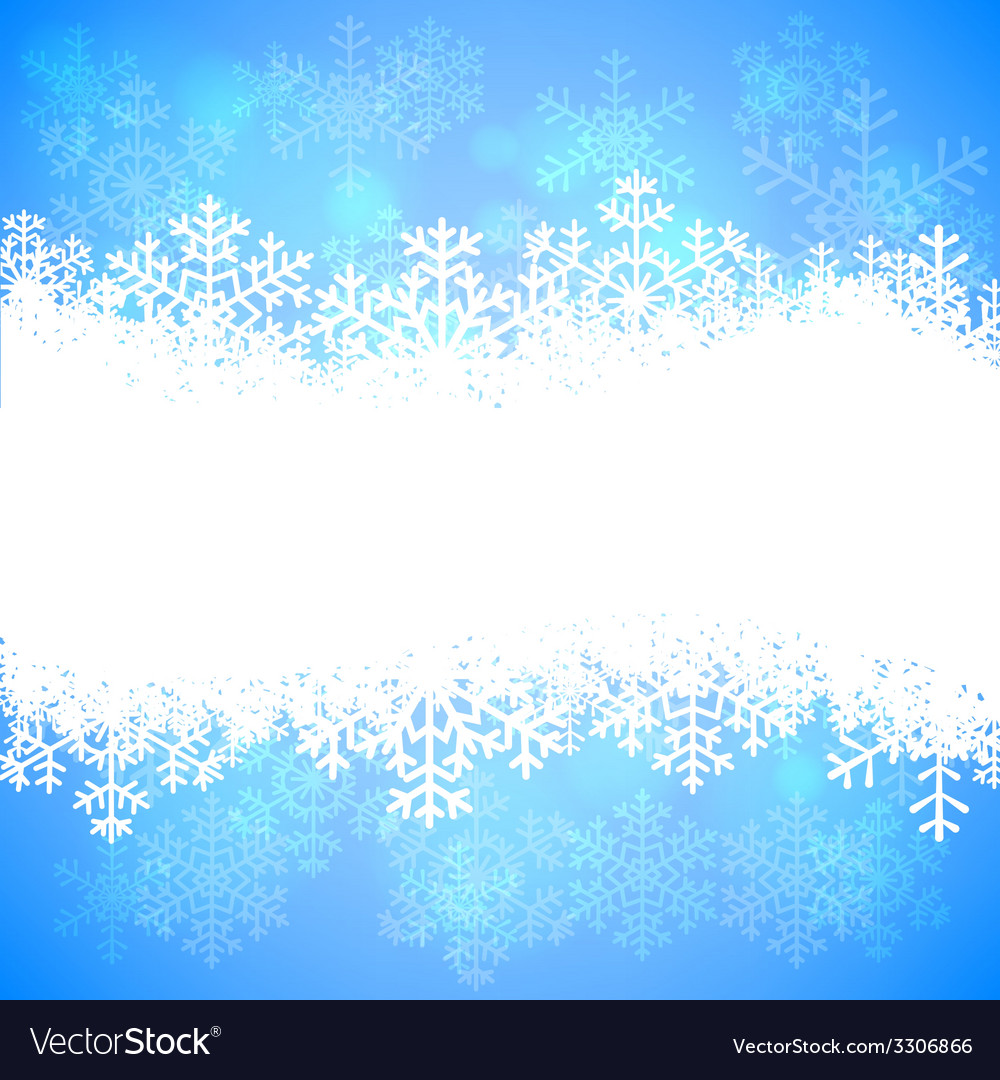 Snowflakes and bokeh vector | Price: 1 Credit (USD $1)