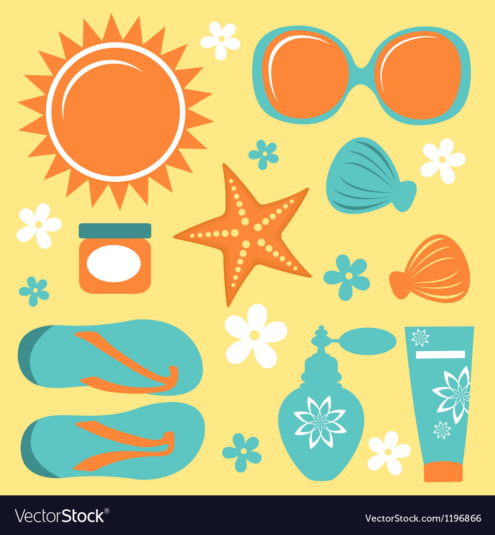 Summer collection vector | Price: 1 Credit (USD $1)