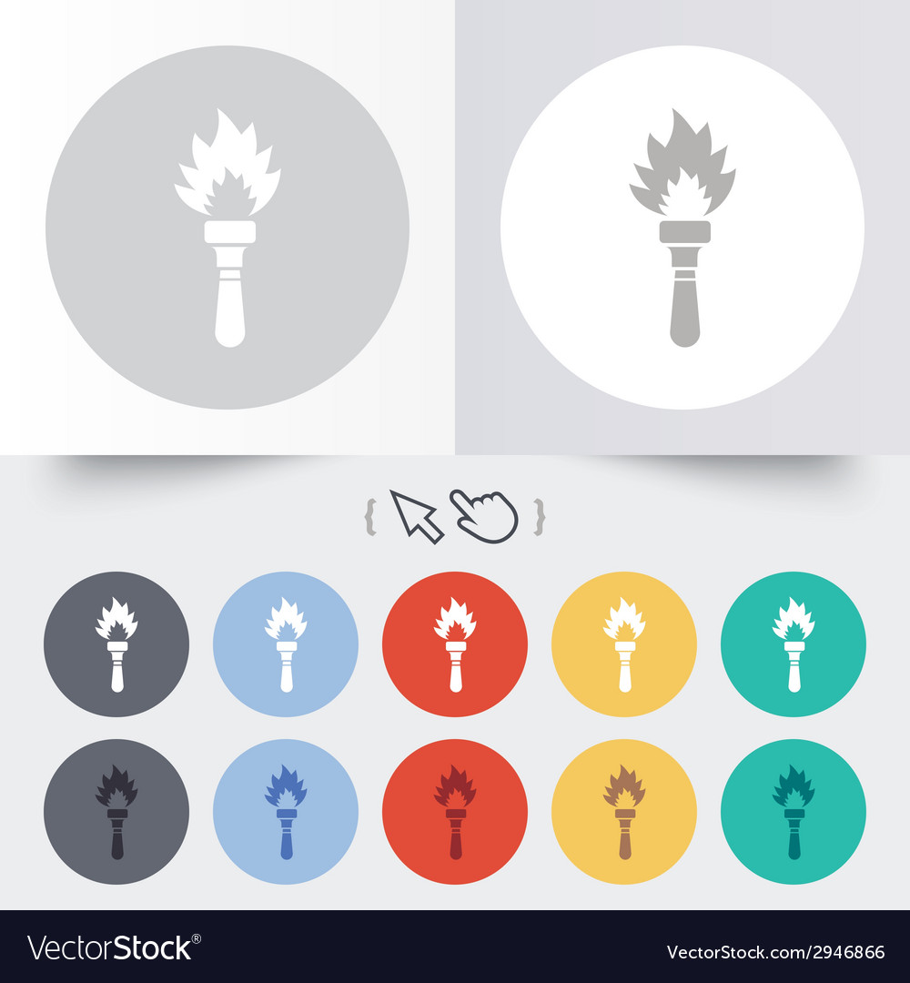Torch flame sign icon fire symbol vector | Price: 1 Credit (USD $1)