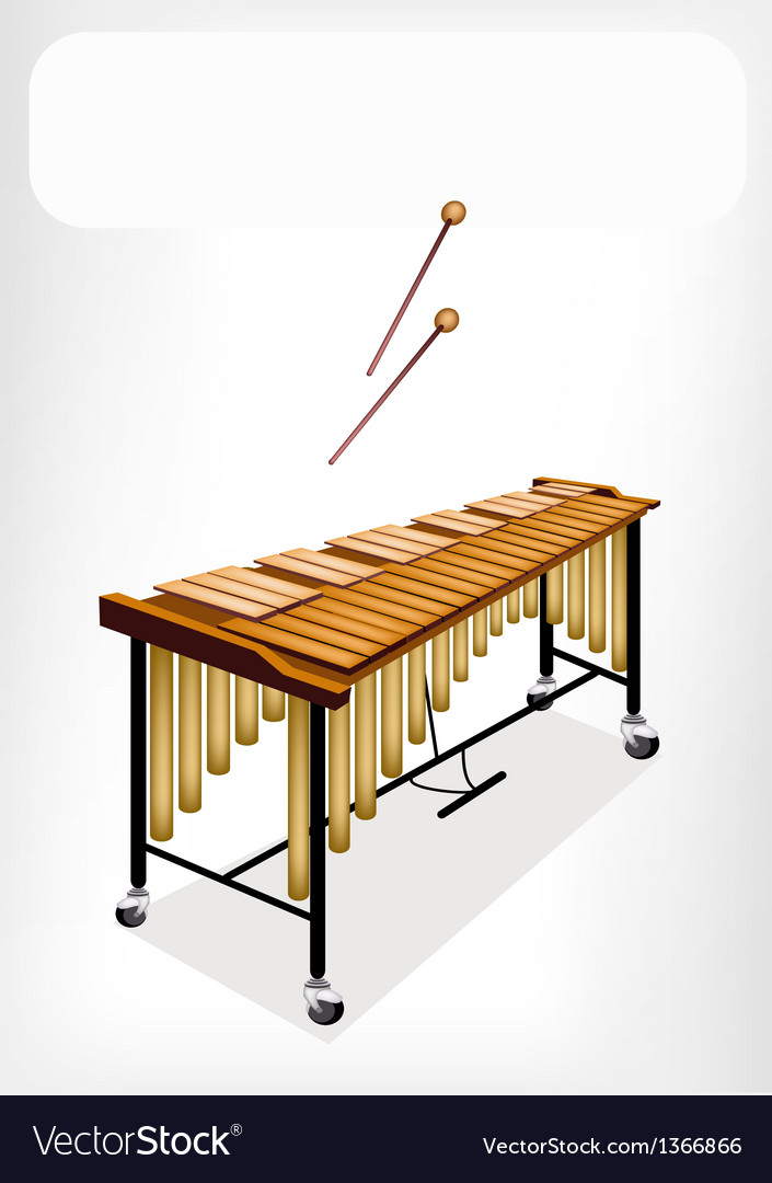 Two retro vibraphone with a white banner vector | Price: 1 Credit (USD $1)