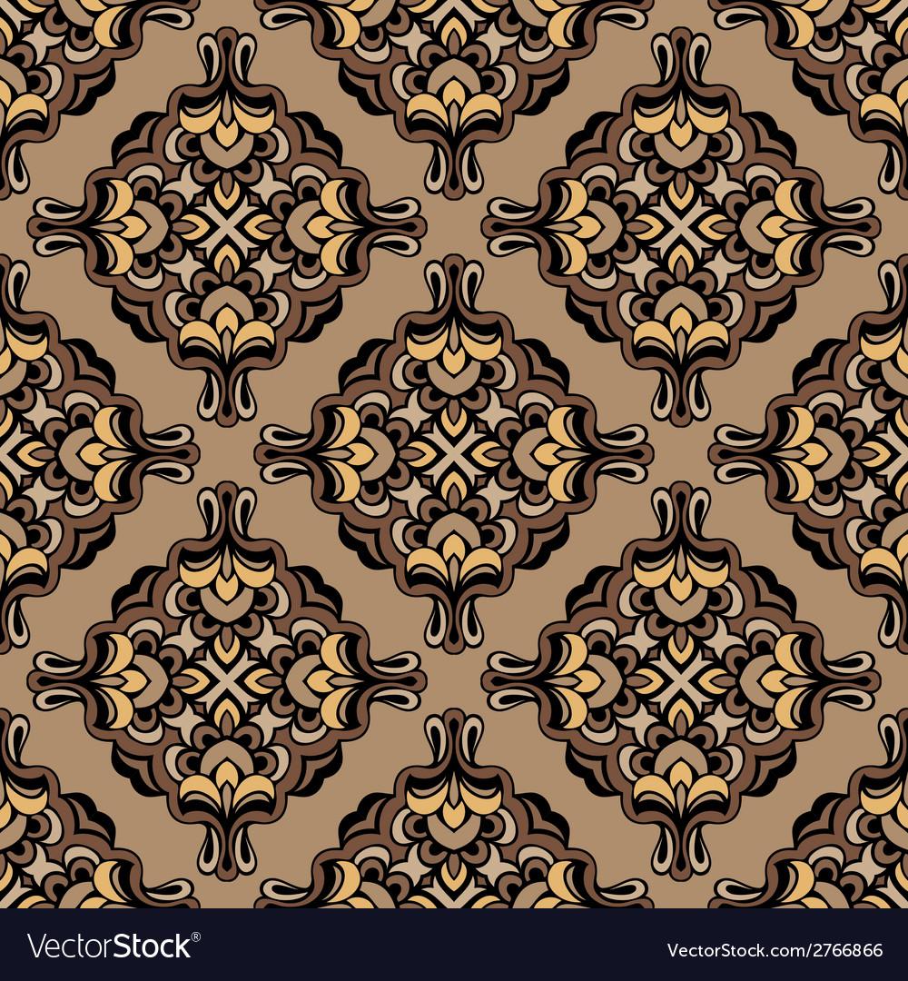 Vintage damask floral pattern vector | Price: 1 Credit (USD $1)