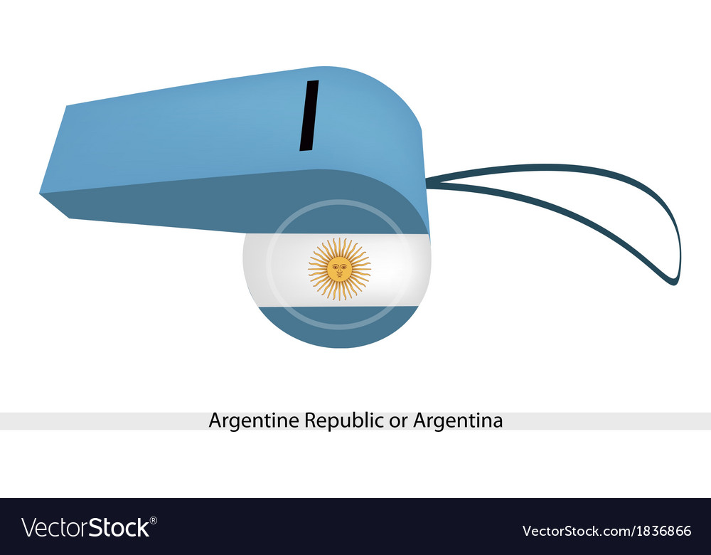 White and light blue whistle of argentina vector | Price: 1 Credit (USD $1)