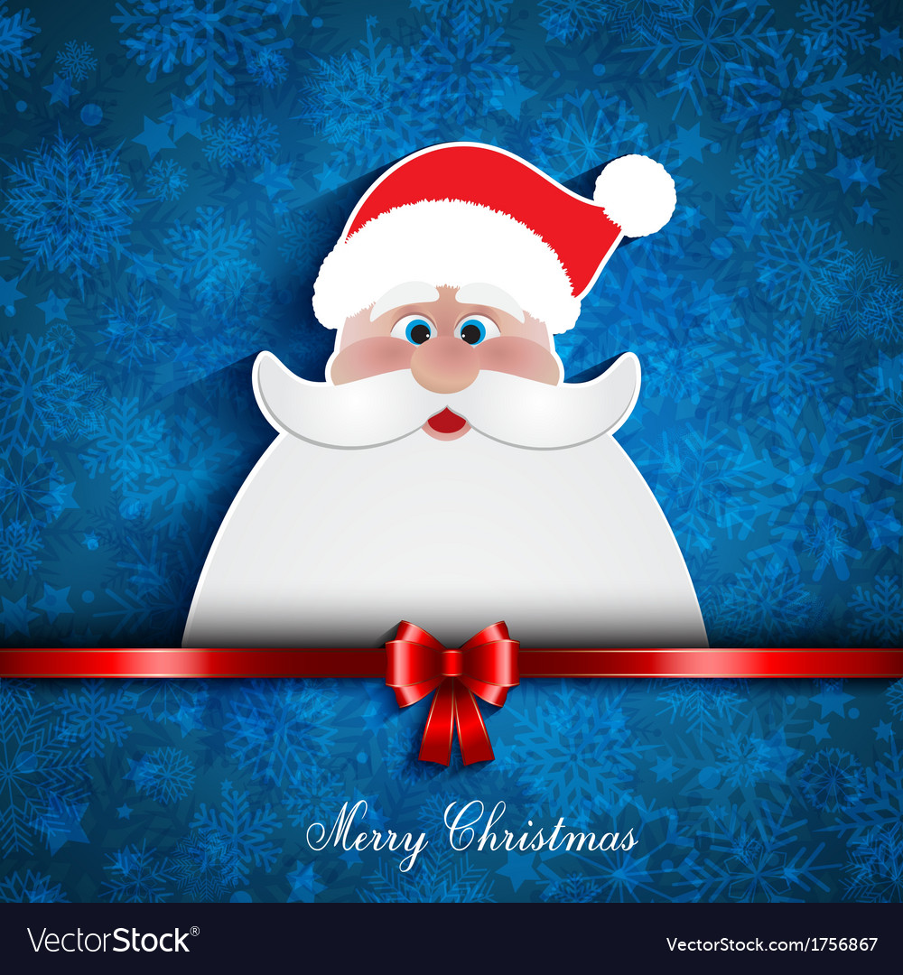 Christmas santa background vector