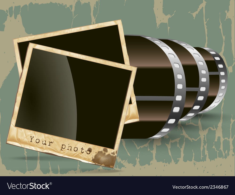 Film with a photo vector | Price: 1 Credit (USD $1)