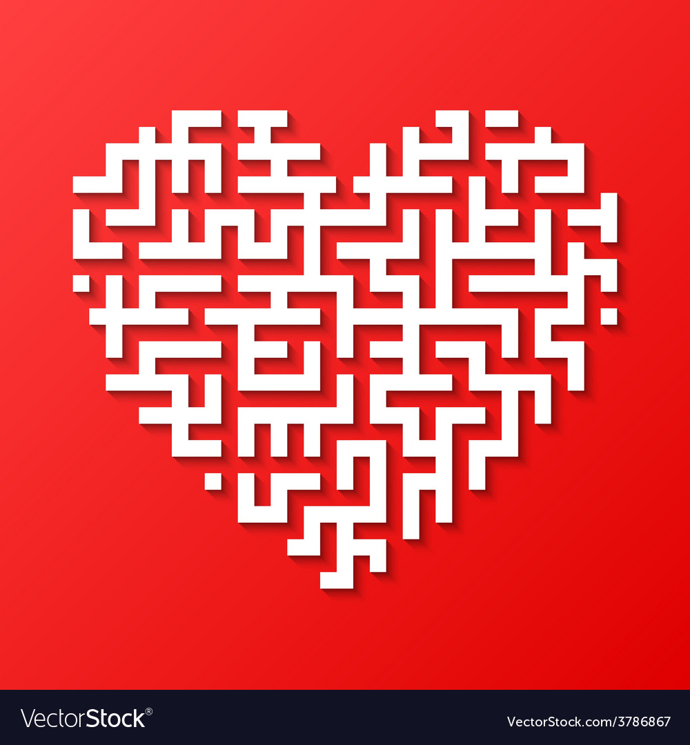 Maze heart vector | Price: 1 Credit (USD $1)