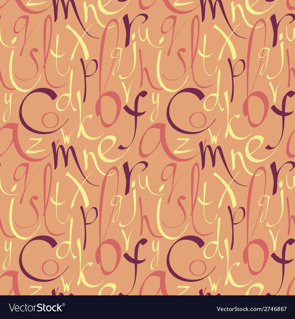 Seamless pattern with hand drawn letters vector | Price: 1 Credit (USD $1)