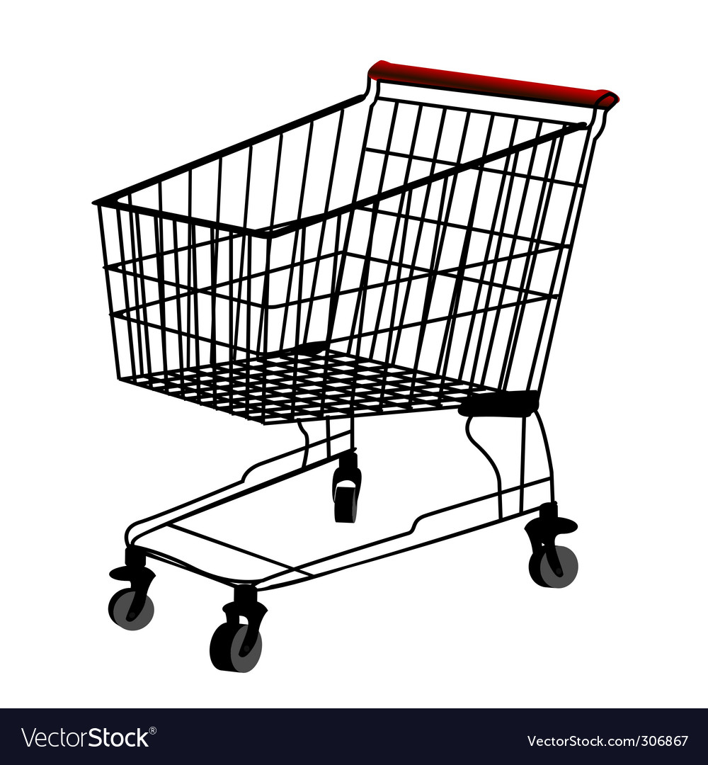 Shopping trolley vector | Price: 1 Credit (USD $1)