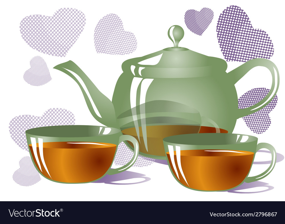 Tea for two vector | Price: 1 Credit (USD $1)