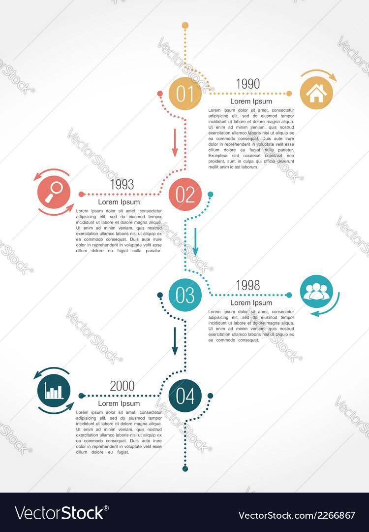 Timeline infographics design template vector | Price: 1 Credit (USD $1)