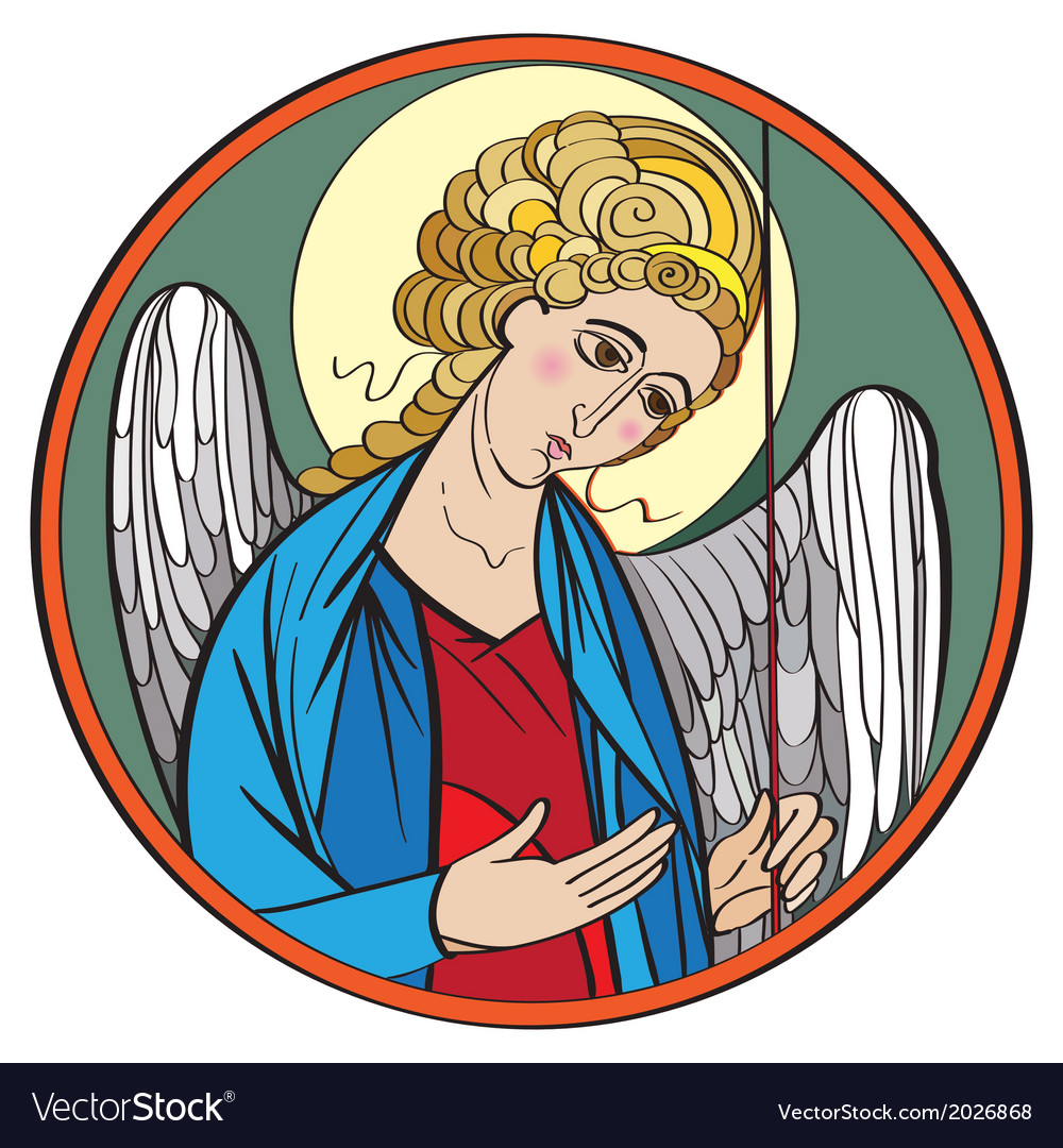 Archangel colored drawing vector | Price: 1 Credit (USD $1)