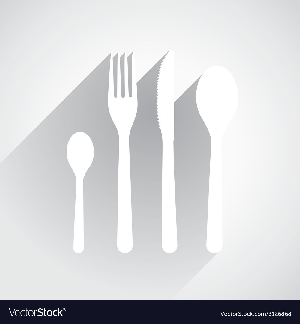 Flat dishes vector | Price: 1 Credit (USD $1)
