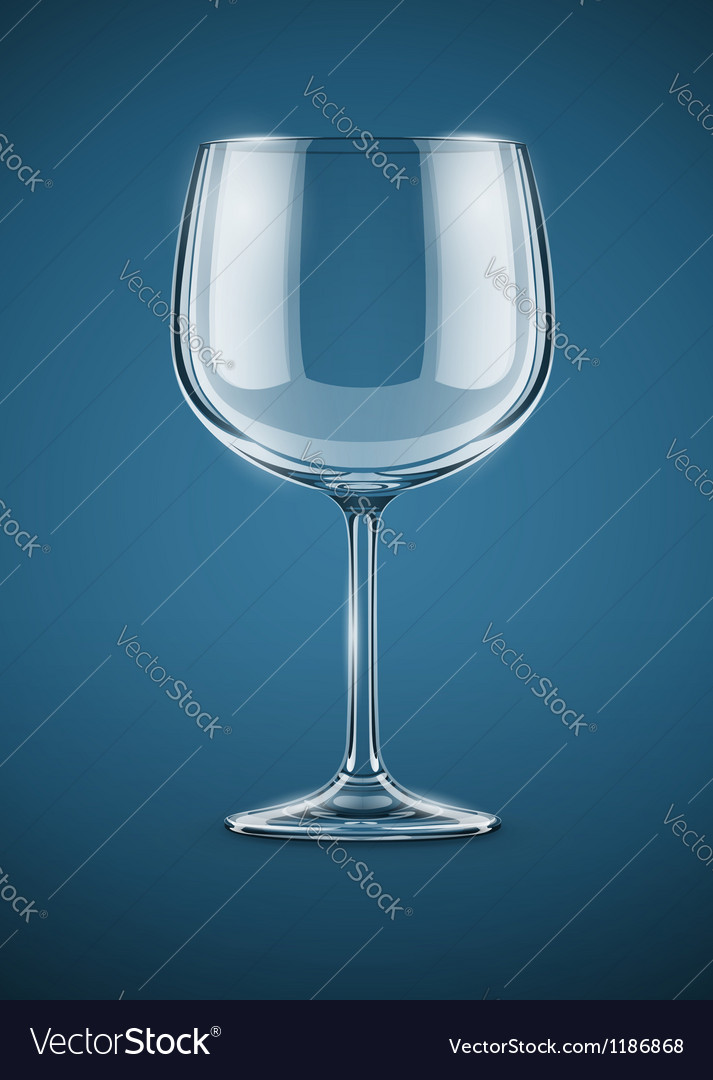 Glass goblet for wine drink vector | Price: 3 Credit (USD $3)