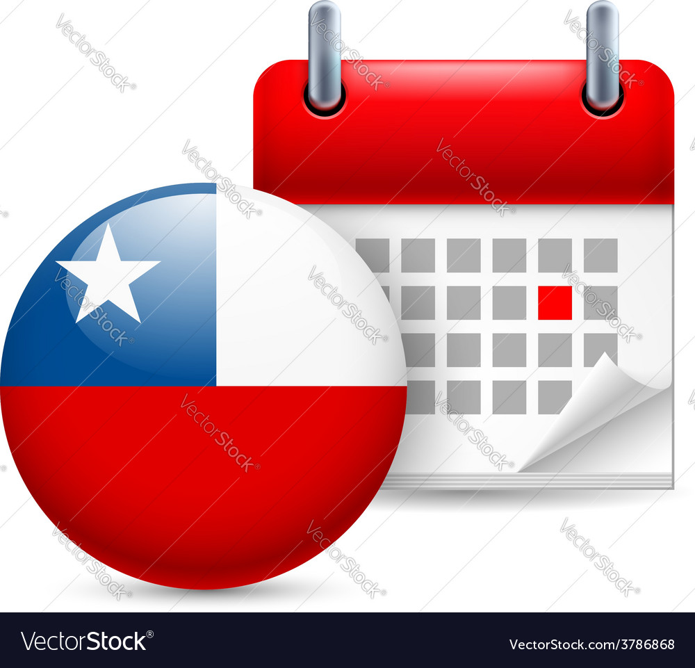 Icon of national day in chile vector | Price: 1 Credit (USD $1)