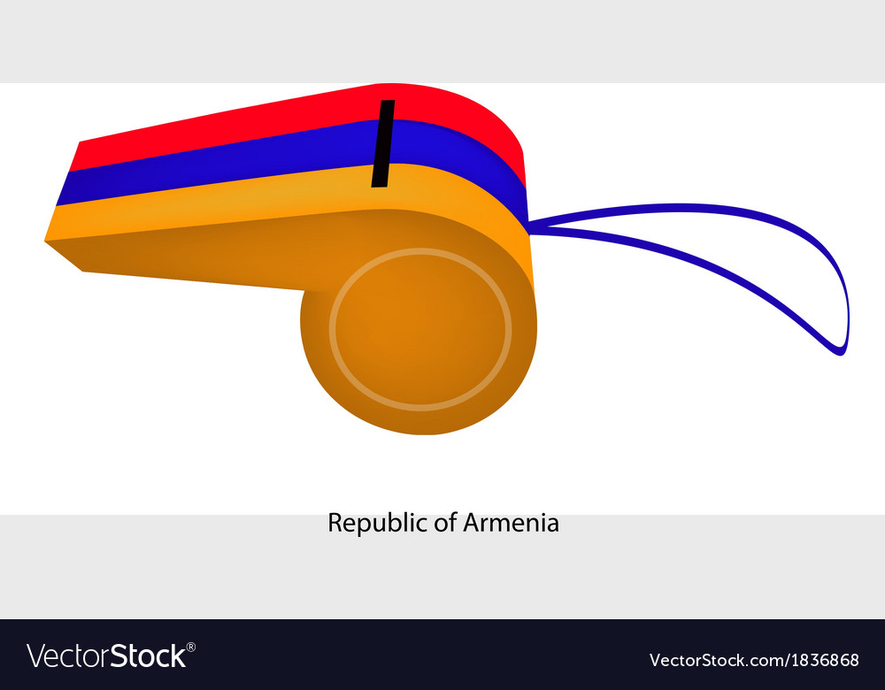 Red blue and yellow stripe on armenia whistle vector | Price: 1 Credit (USD $1)