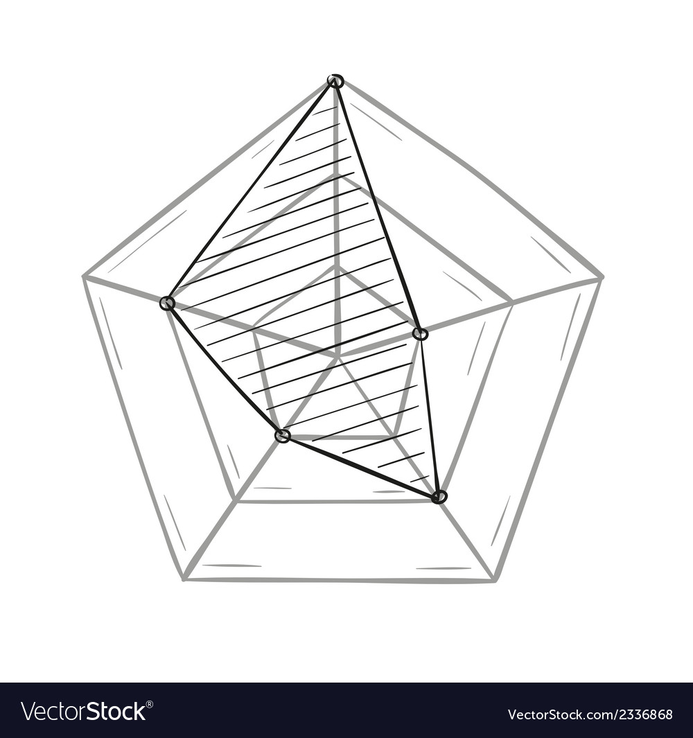 Sketch of the radar chart vector | Price: 1 Credit (USD $1)