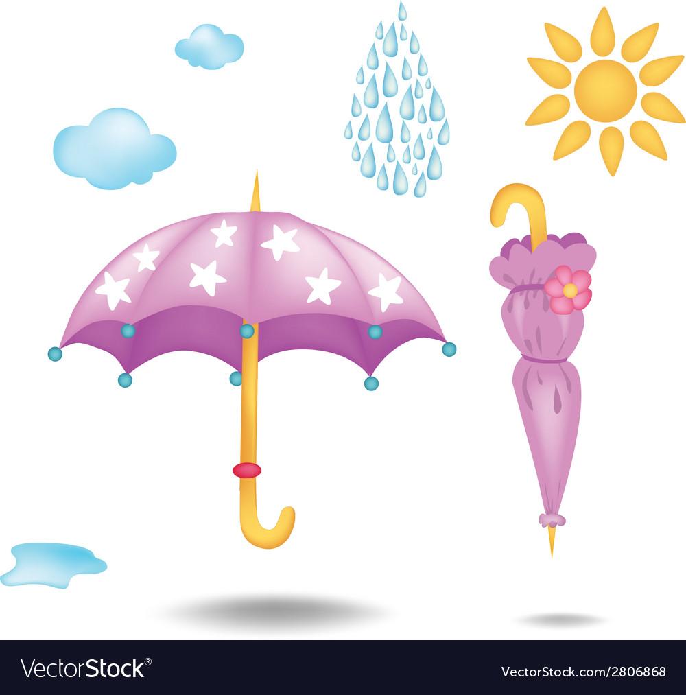 Two umbrellas vector | Price: 1 Credit (USD $1)