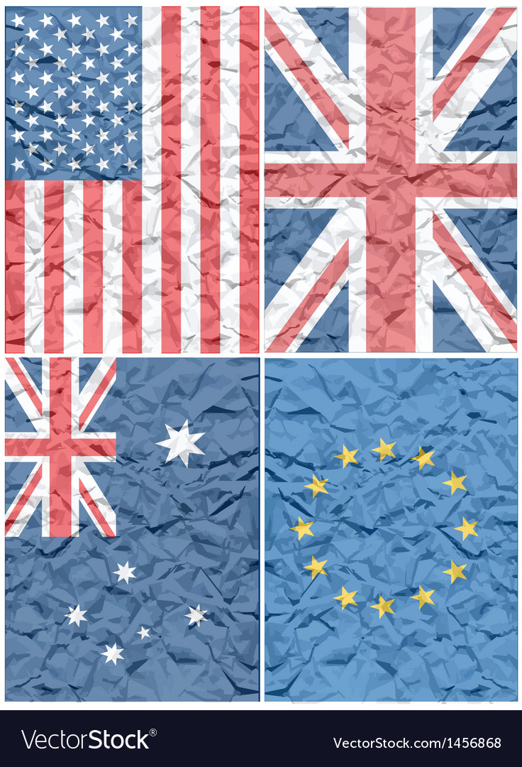 Various flags vector | Price: 1 Credit (USD $1)