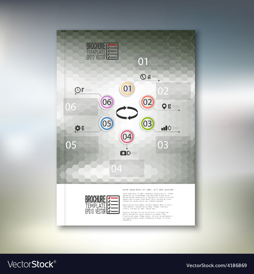 Abstract hexagonal infographic pattern brochure vector   Price: 1 Credit (USD $1)