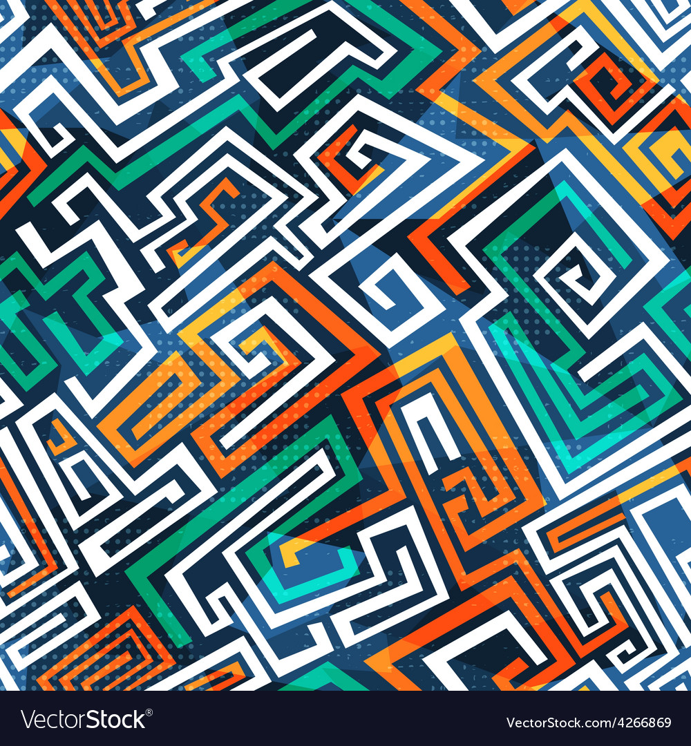Abstract maze seamless pattern vector | Price: 1 Credit (USD $1)
