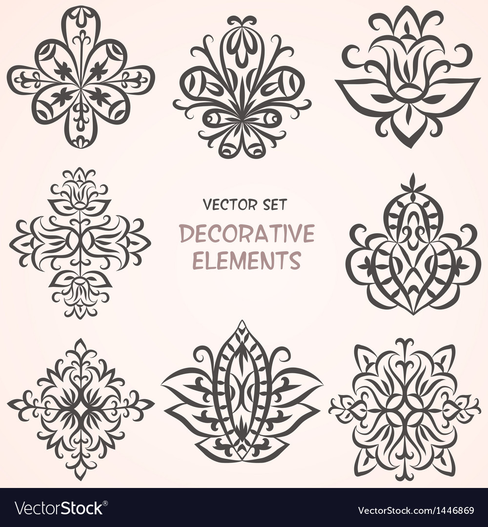 Decorative ethnic elements set vector | Price: 1 Credit (USD $1)