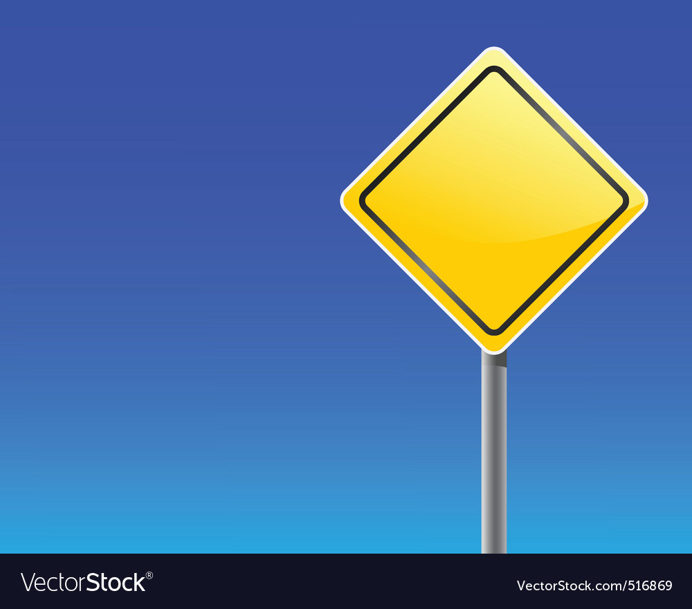 Empty traffic sign vector | Price: 1 Credit (USD $1)