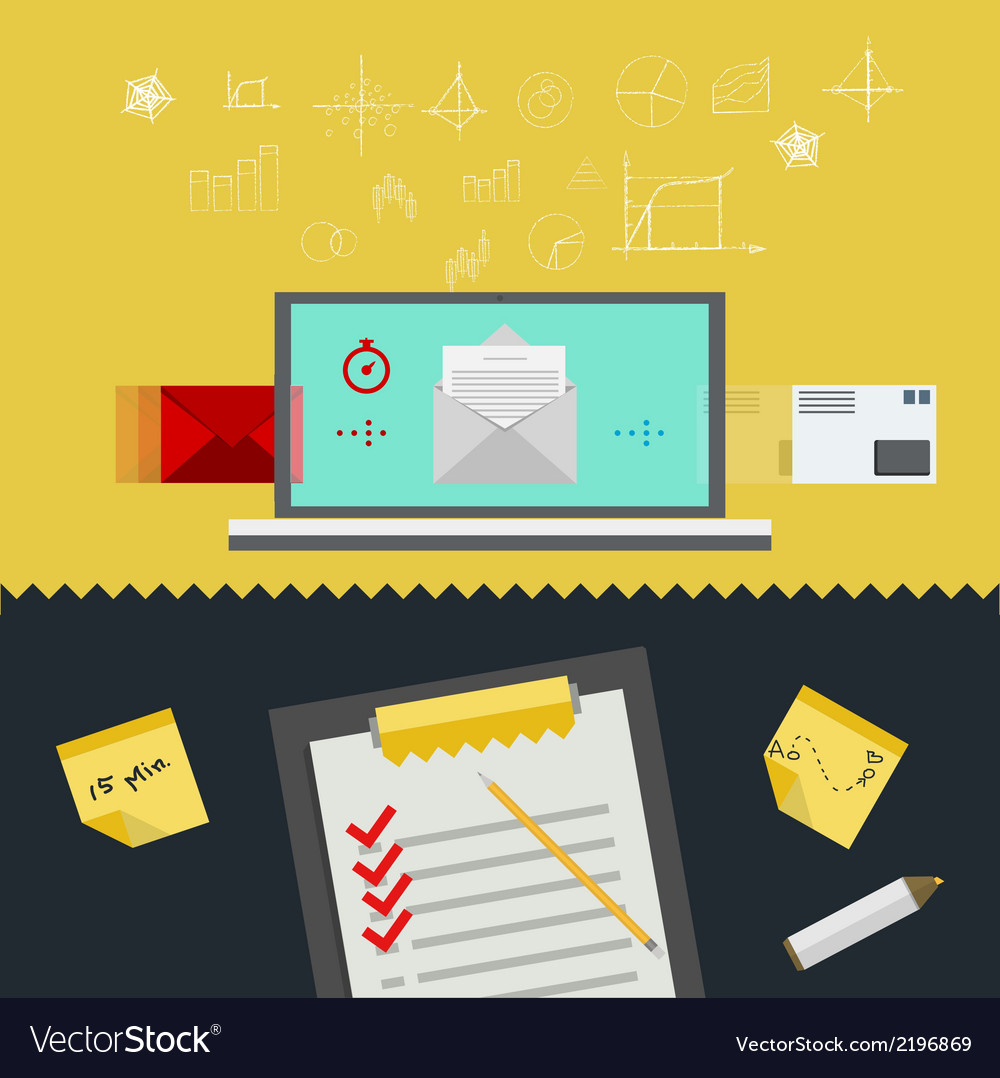 Flat of management vector | Price: 1 Credit (USD $1)