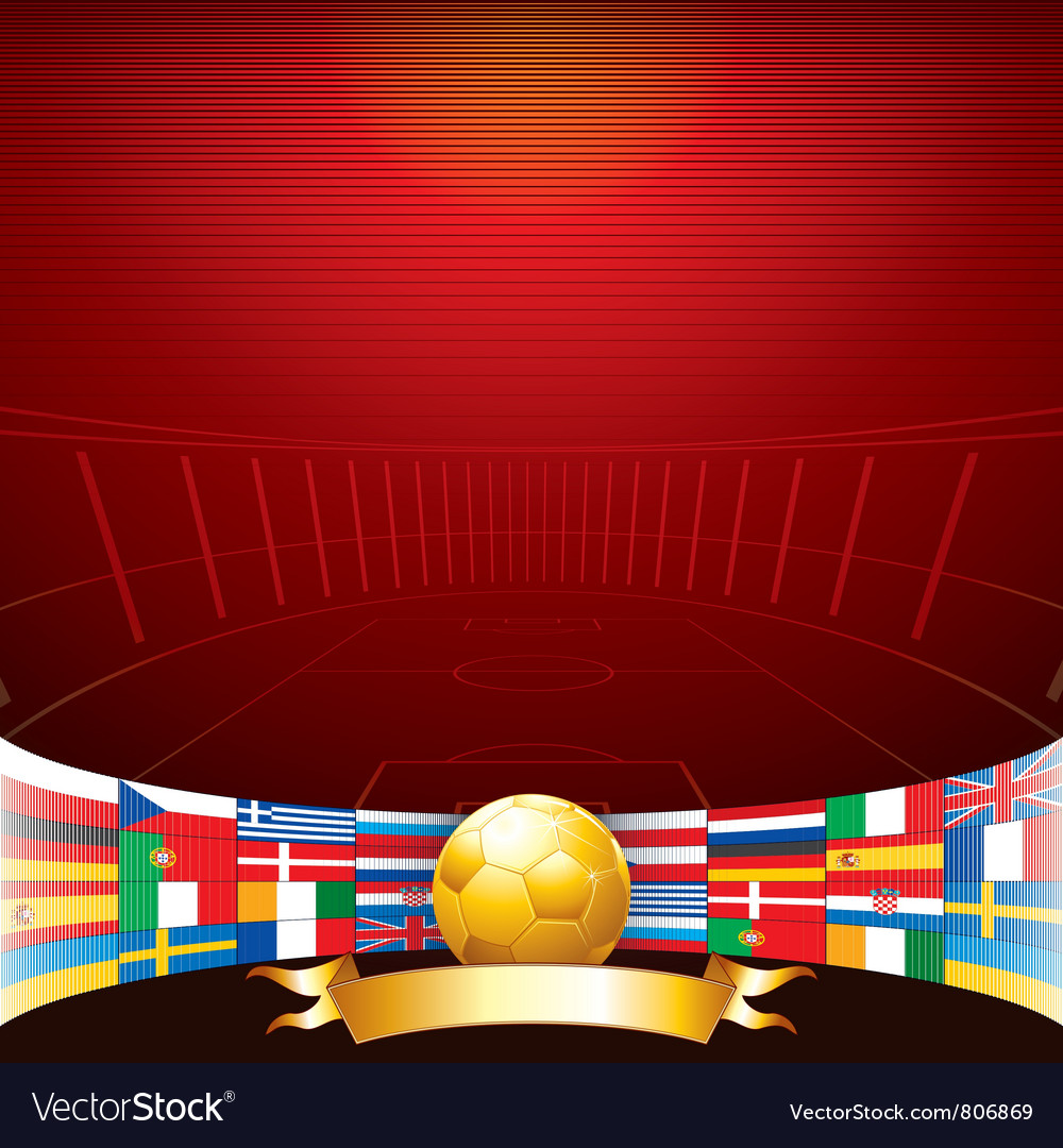 Football background vector | Price: 3 Credit (USD $3)