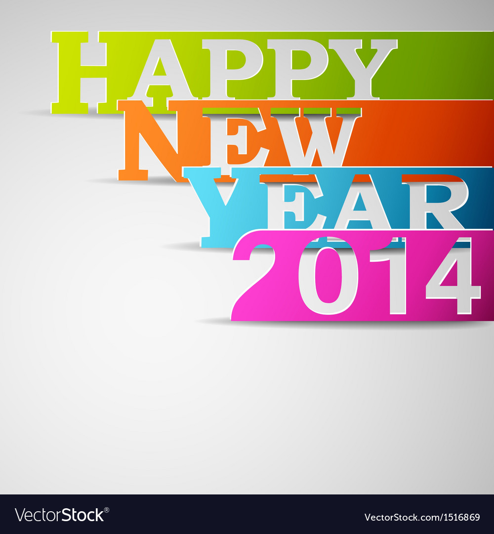 Happy new year 2014 paper strips vector | Price: 1 Credit (USD $1)