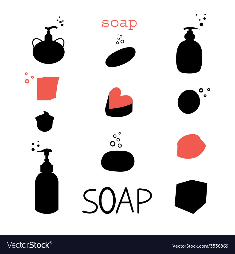 Icons soap vector | Price: 1 Credit (USD $1)