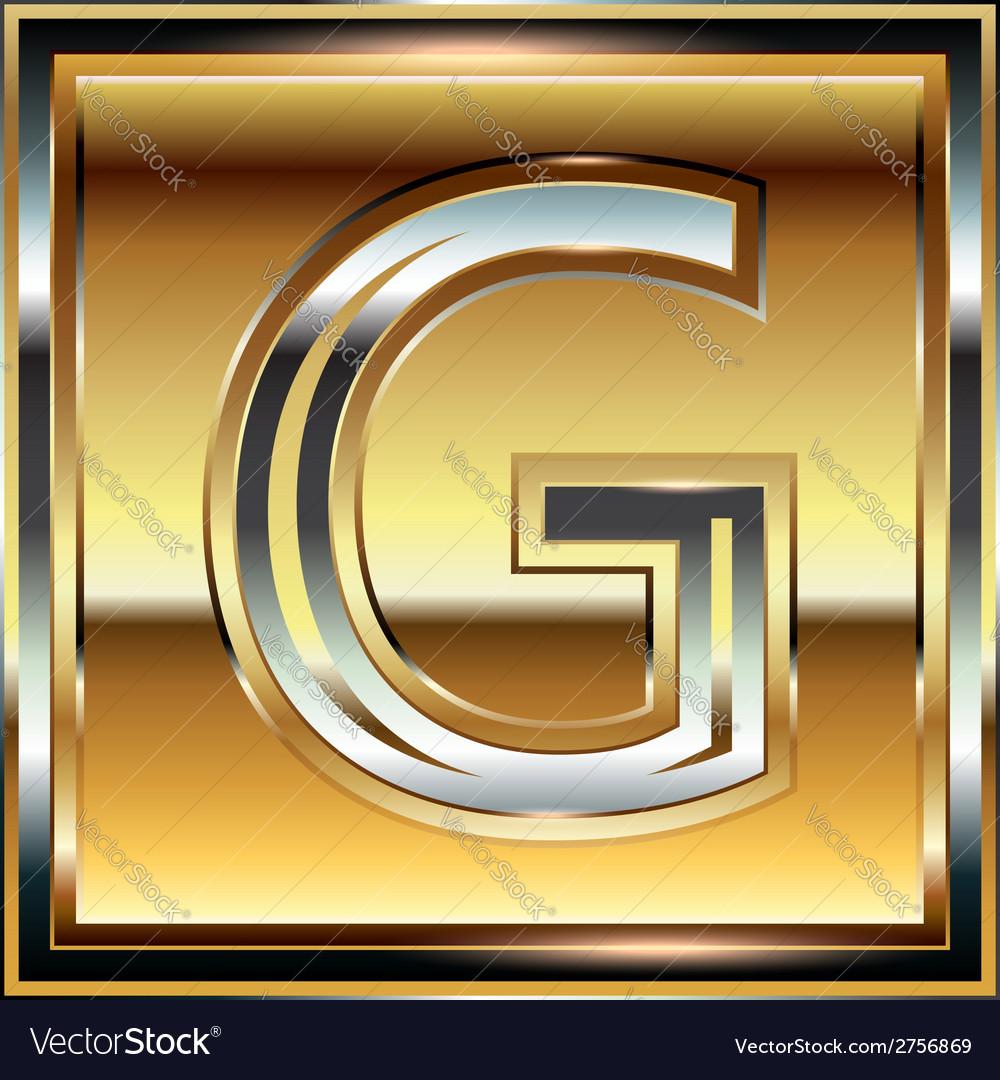 Ingot font letter g vector