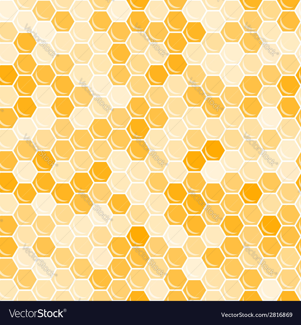 Orange honeycomb background vector | Price: 1 Credit (USD $1)
