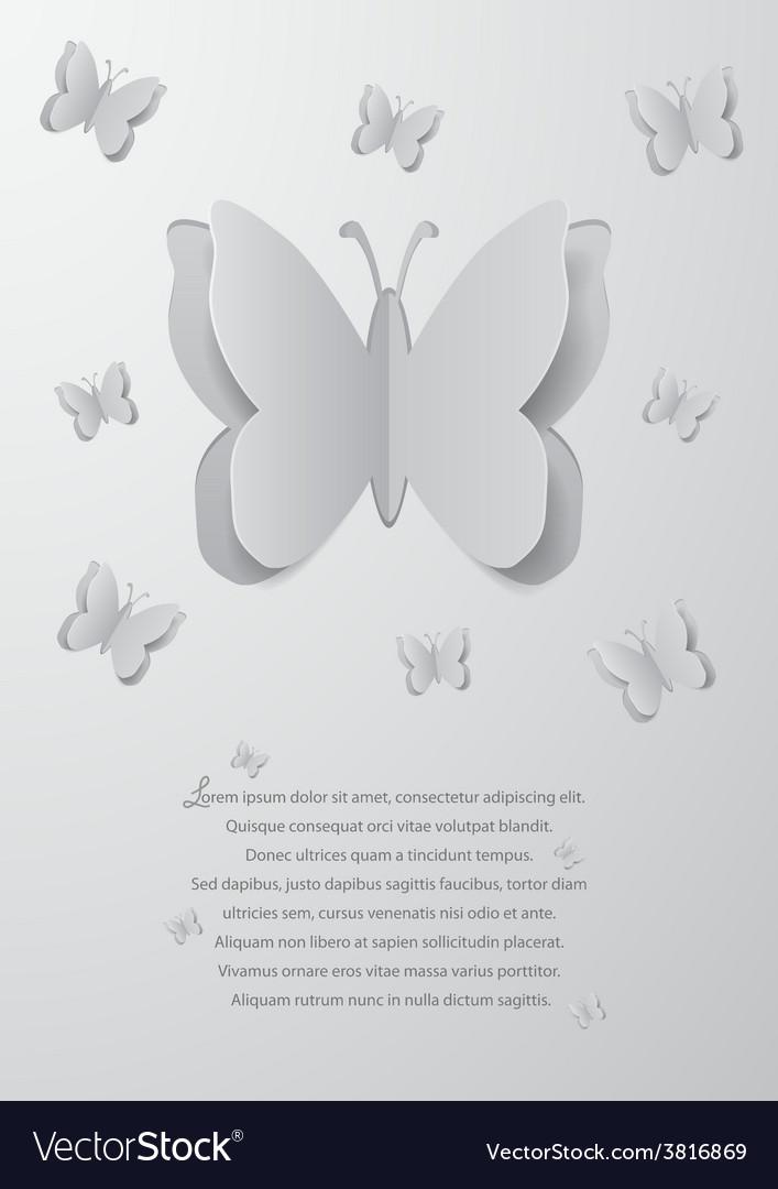 Paper cutout butterflies vector | Price: 1 Credit (USD $1)