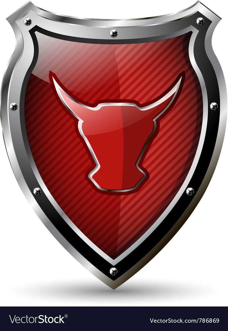 Shield with the red bull vector | Price: 3 Credit (USD $3)