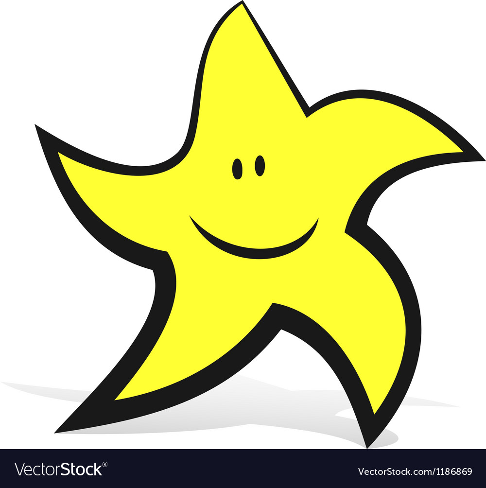 Smiling star vector | Price: 1 Credit (USD $1)