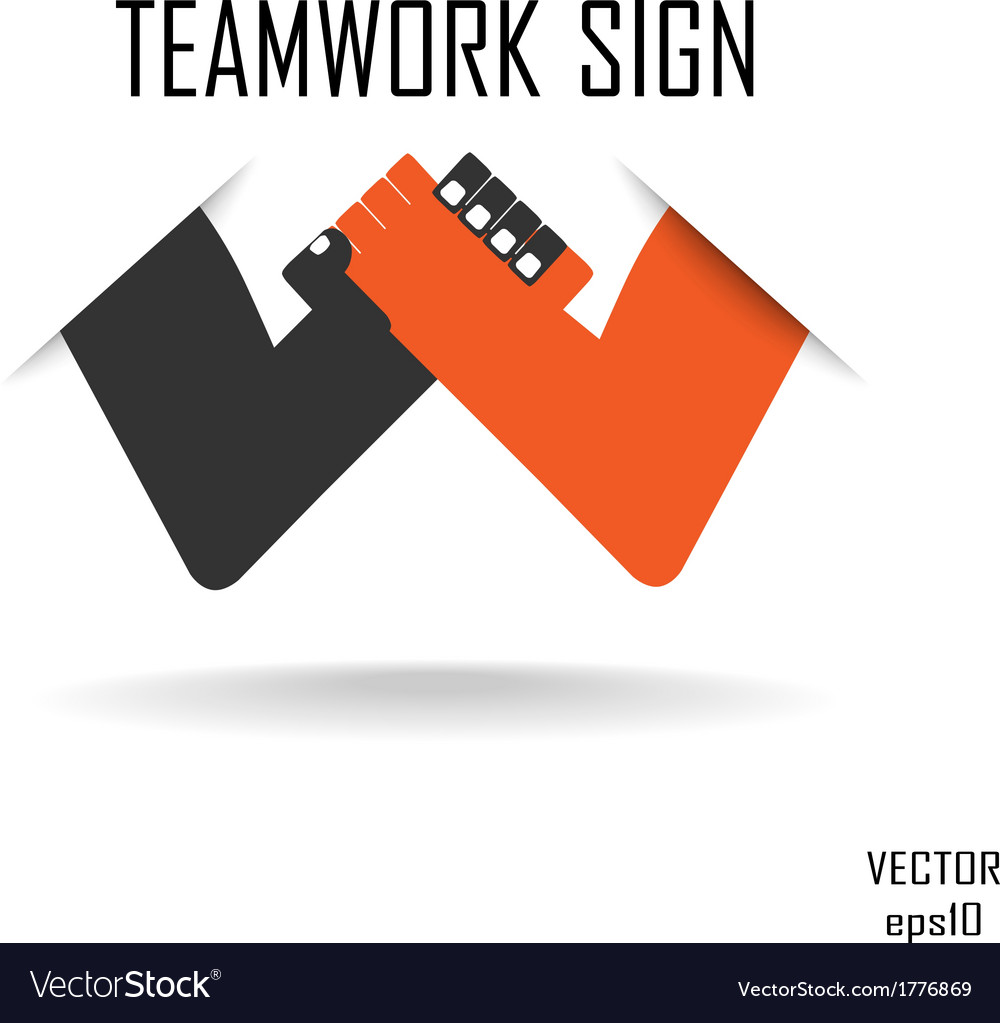 Teamwork sign vector | Price: 1 Credit (USD $1)