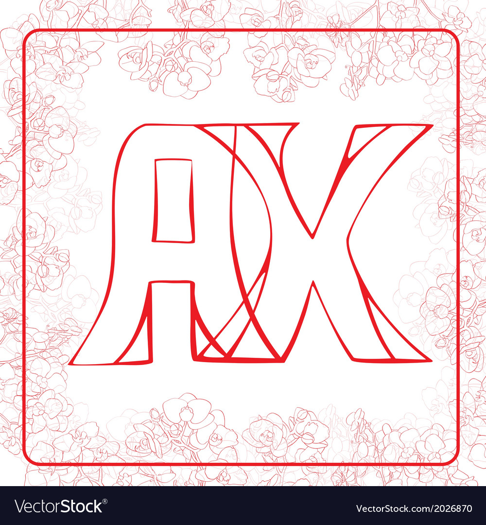 Ax monogram vector | Price: 1 Credit (USD $1)