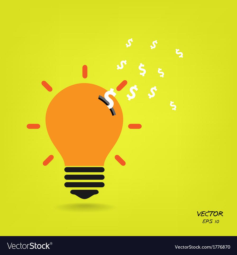 Creative light bulb background vector | Price: 1 Credit (USD $1)