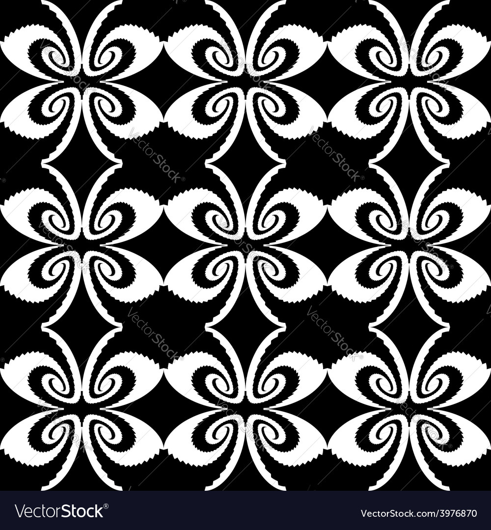 Design seamless decorative butterfly pattern vector | Price: 1 Credit (USD $1)