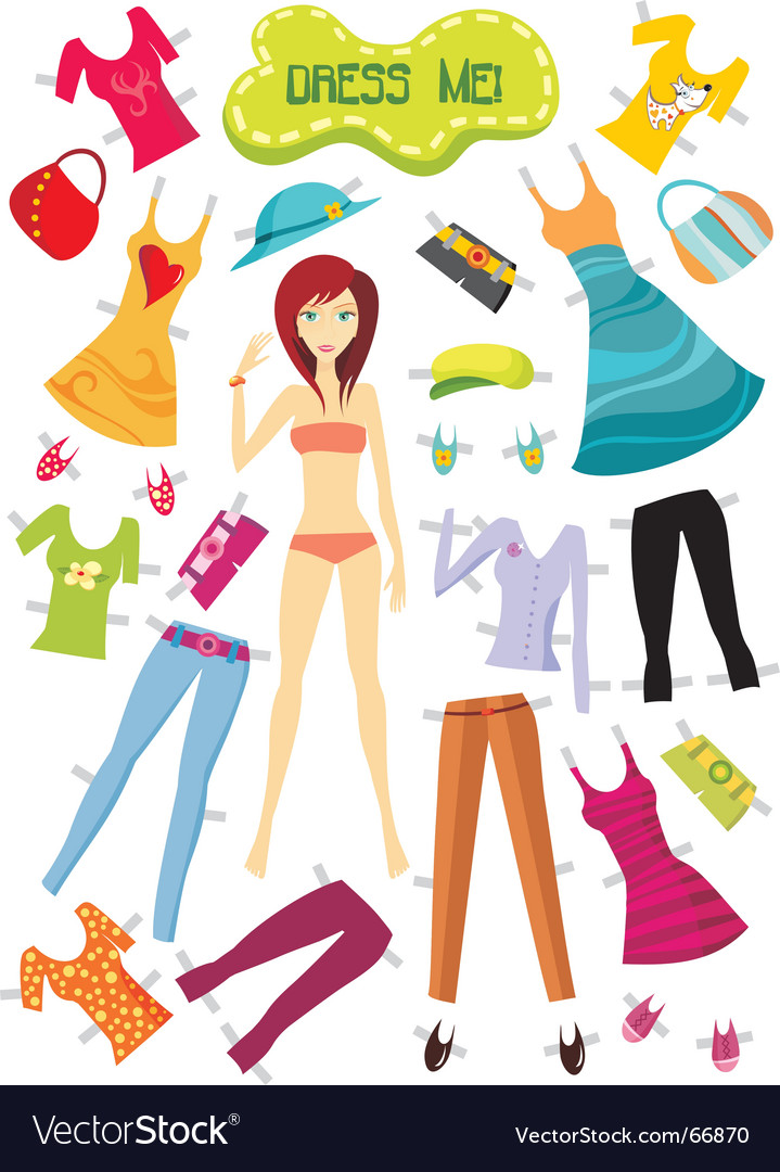 Dress up model vector | Price: 1 Credit (USD $1)