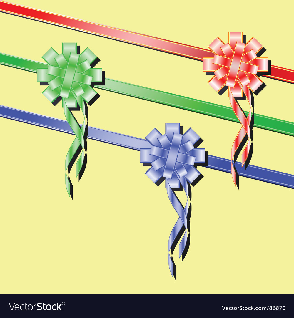 Festive ribbons vector | Price: 1 Credit (USD $1)