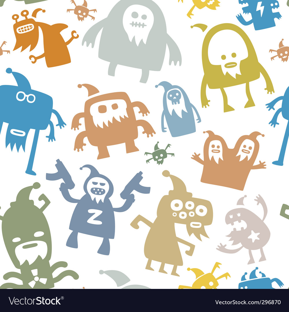 Monster patterns vector | Price: 1 Credit (USD $1)