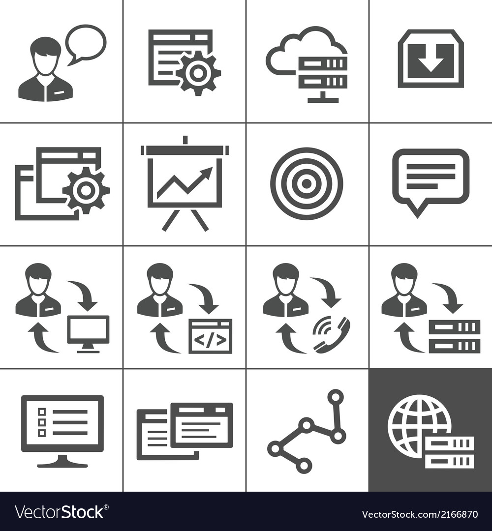 Outsourcing icons set - simplus series vector | Price: 1 Credit (USD $1)
