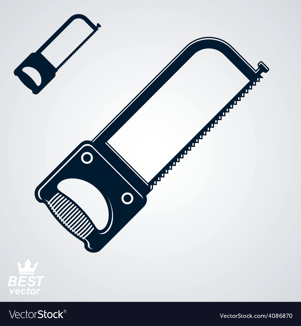 Stylized metal saw with sharp teeth clear eps8 vector | Price: 1 Credit (USD $1)